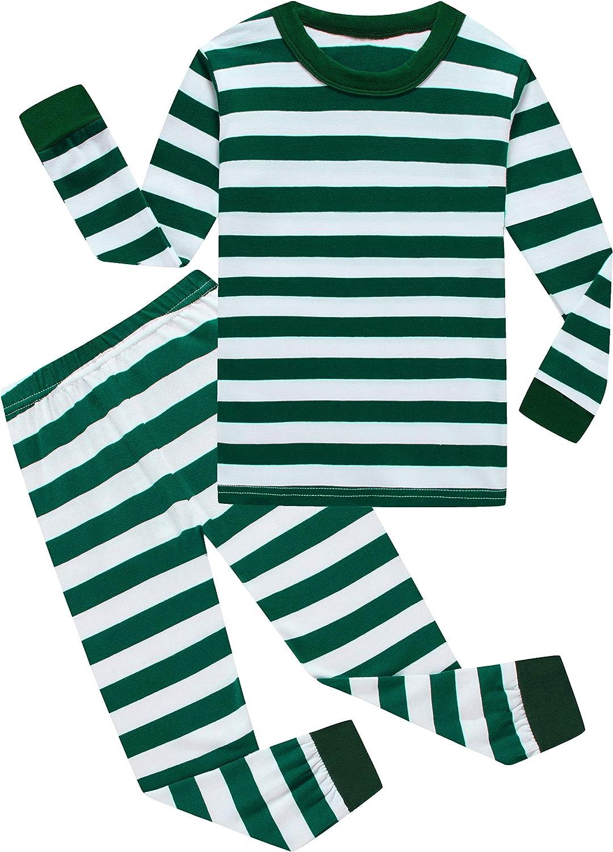 Boys Christmas Pajamas Girls Children Santa Claus PJs Gift Toddler 2 Pieces Pants Set Sleepwear