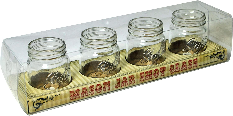 4-Pack Barbuzzo Mason Jar Shot Glasses