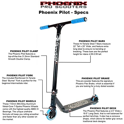 Amazon.com: Phoenix Pilot Pro Scooter: Sports & Outdoors