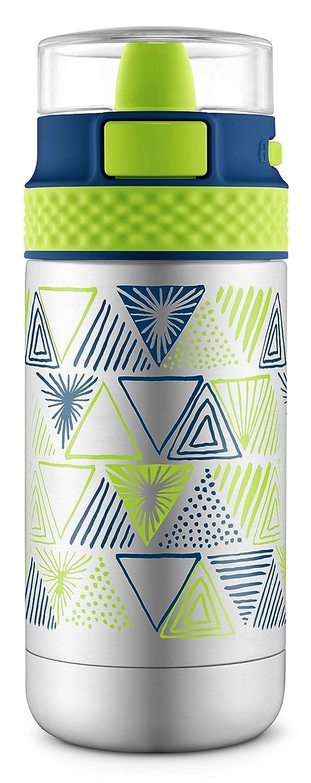Ello Ride Stainless Steel Water Bottle, Blue/Grey, 14 oz Leapfrog Brands 456-0621-420-6