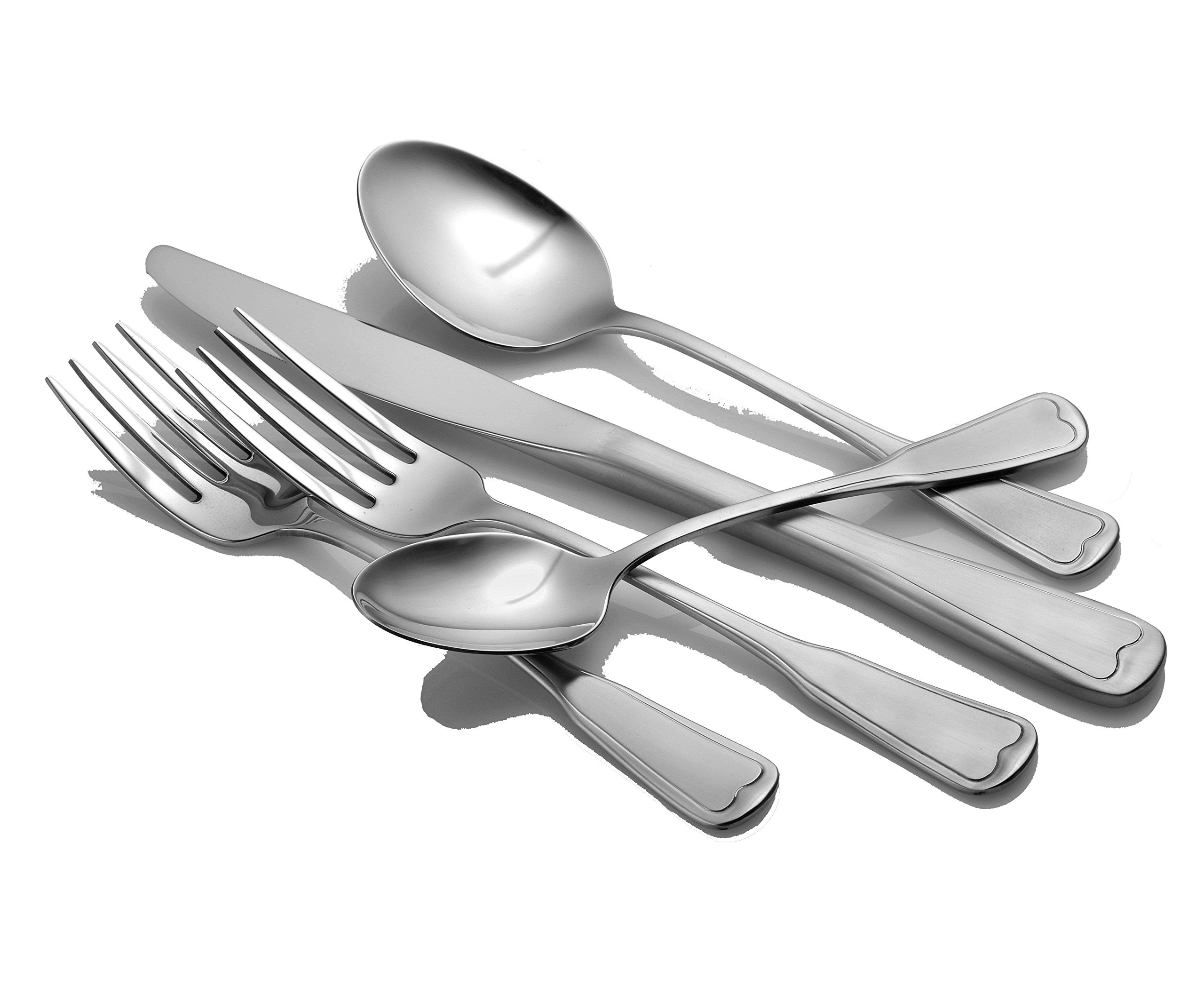 Liberty Tabletop Satin Richmond 20 Piece Flatware Set service for 4 stainless steel 18/10 Made in USA by Liberty Tabletop (Image #3)