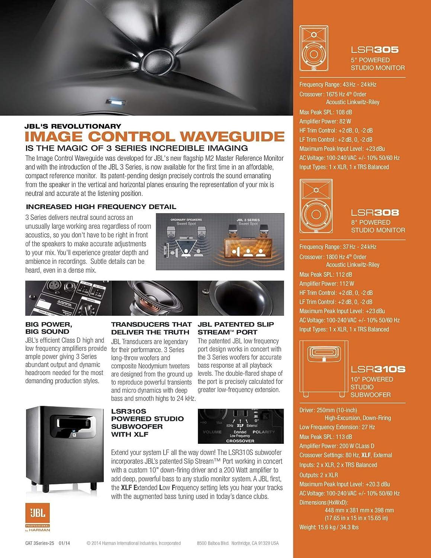 JBL LSR310S 10-inch Powered Studio Subwoofer Monitor: Amazon