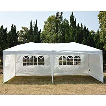 Outsunny Easy Pop Up Canopy Party Tent 10 x 20-Feet White with  sc 1 st  Amazon.com : 20 tent - memphite.com