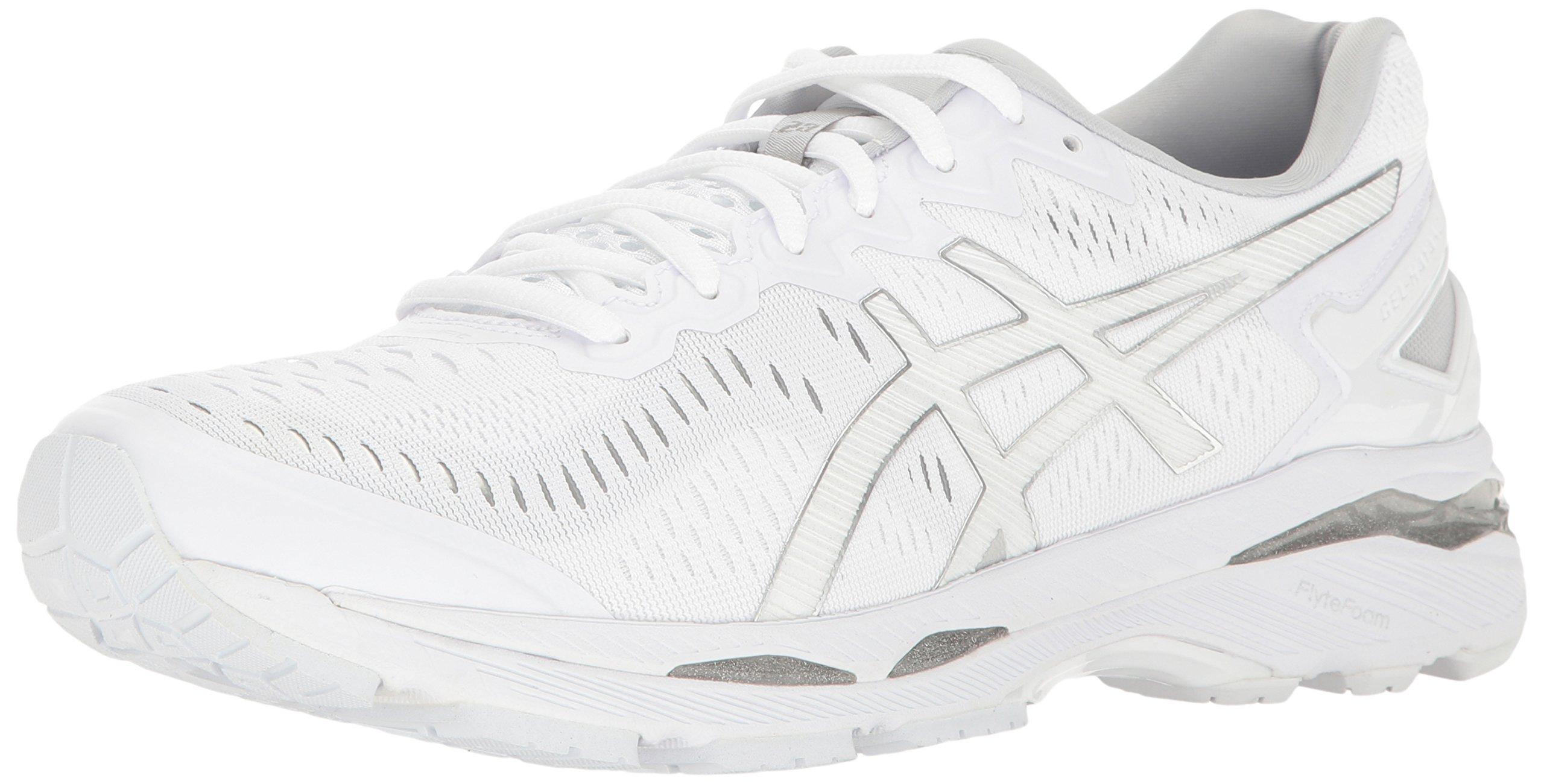 ASICS Men's Gel-Kayano 23 Running Shoe, White/Snow/Silver, 11.5 M US