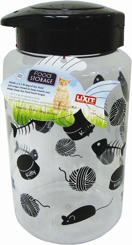 Lixit Animal Care Cat Treat and Food Storage Jars (128oz)