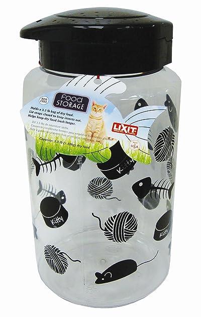 Lixit Animal Care Cat Treat and Food Storage Jars