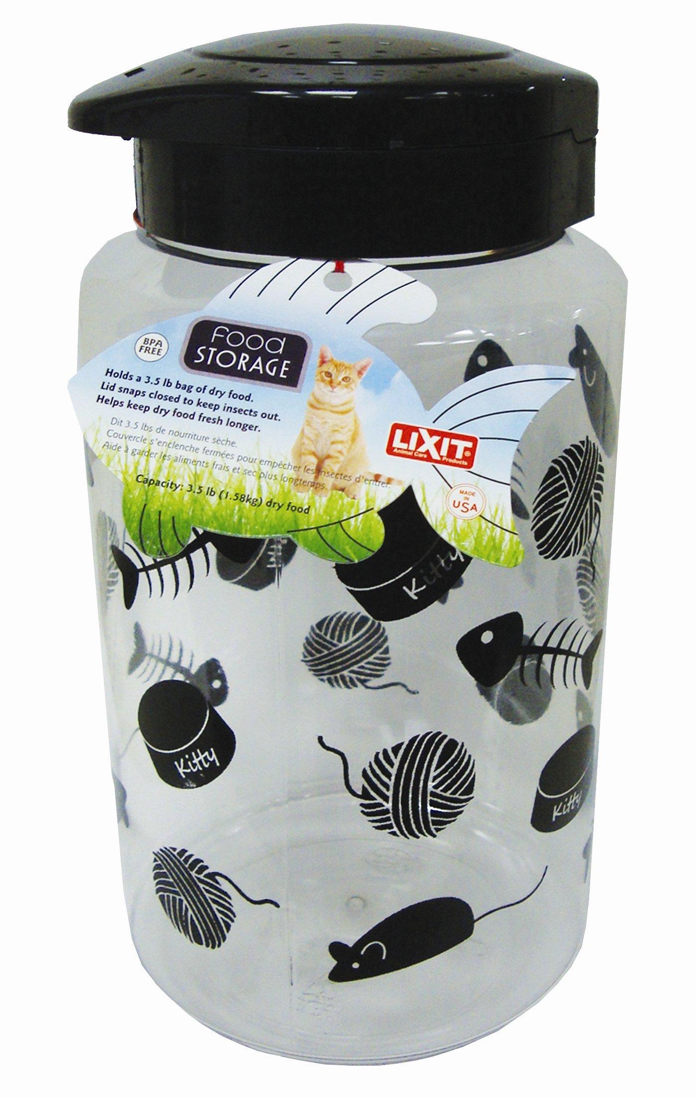 Lixit Animal Care Lixit Cat Food Storage Jar, 128oz