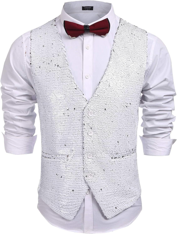 Simbama Mens Plaid Layered Vest Dress Suit Vest Formal Waistcoat For Wedding
