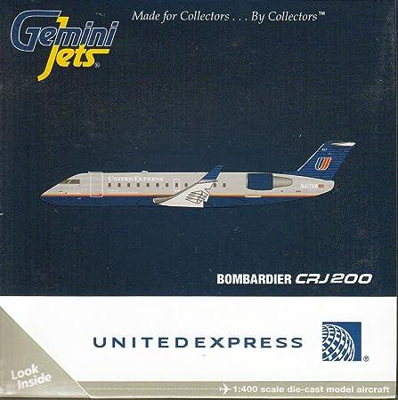Gemini Jets United Express Bombardier CRJ200 N417AW 1//400 Scale Model GJUAL1633