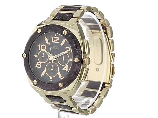 Amazon.com: XOXO Womens XO5648 Grey and Gold Bracelet Analog Watch: Watches