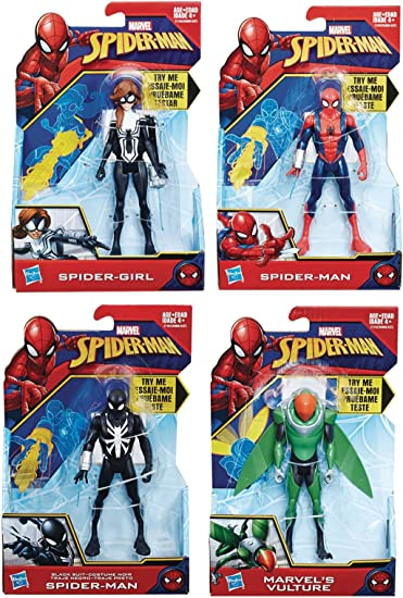Marvel Ultimate PROTO-SUIT SPIDER-MAN Quick Shot 6 in Scale Action Figure Hasbro