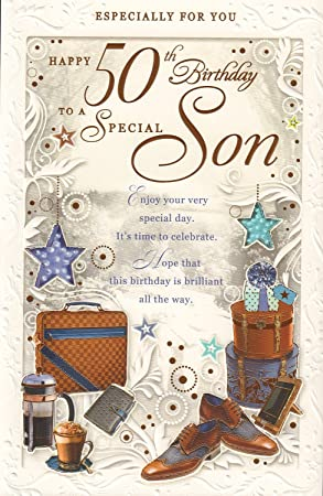 Happy 50th Birthday To A Special Son Card