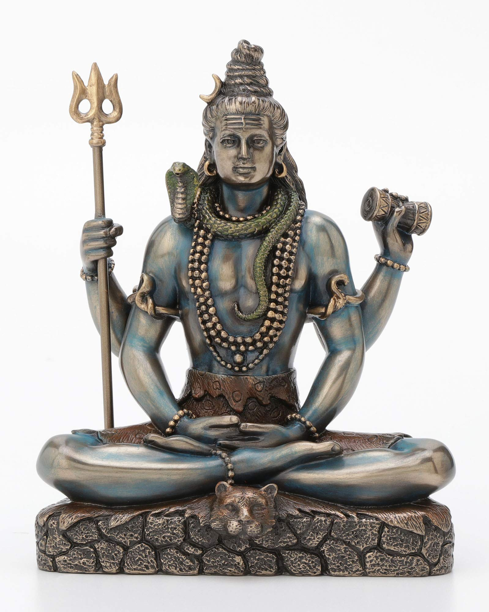 Veronese Design Lord Shiva in Lotus Pose Statue Sculpture - Hindu God and Destroyer of Evil Figure 6.2'' Tall by Veronese Design