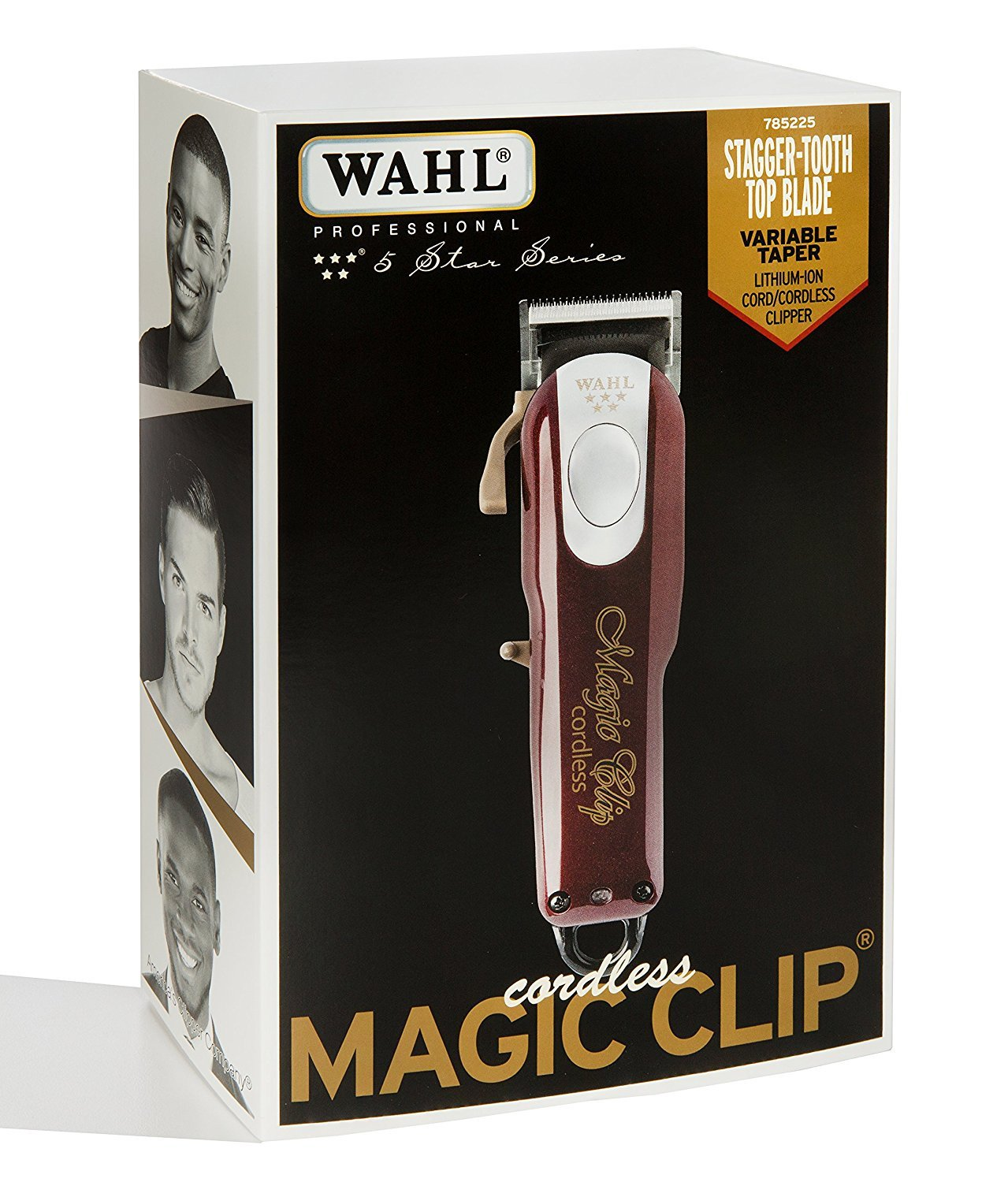 Wahl Professional 5-Star Cord/Cordless Magic Clip #8148 – Great for Barbers and Stylists – Precision Cordless Fade Clipper Loaded with Features – 90+ Minute Run Time by Wahl Professional (Image #2)