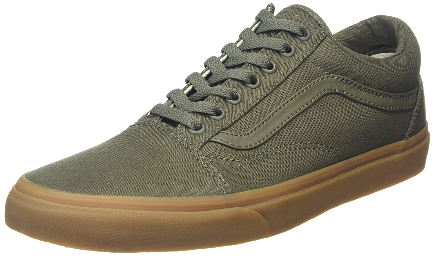 [バンズ] VANS OLD SKOOL B01CRB6H4C 9.5 B(M) US Women / 8 D(M) US Men|(Canvas Gum) Ivy Green/Light Gum (Canvas Gum) Ivy Green/Light Gum 9.5 B(M) US Women / 8 D(M) US Men