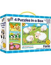 Galt Four Puzzles in A Box - Farm