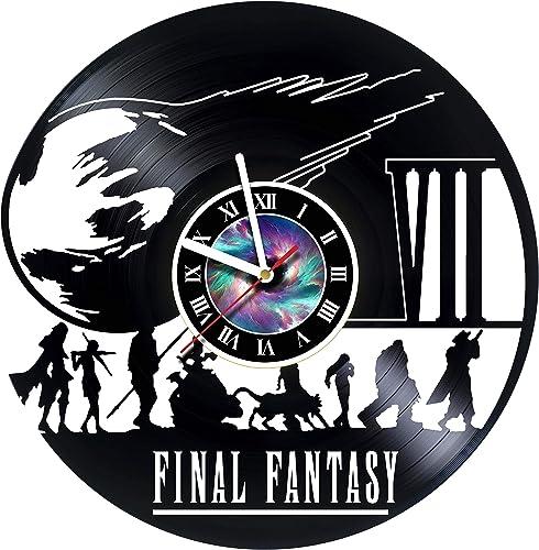 Final Fantasy 7 Adventure Anime PS PC Games Vinyl Record Wall Clock