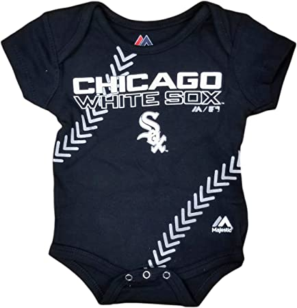 Chicago White Sox Infant Fan-ATIC Team-Color Baseball Creeper