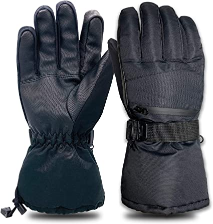 A-MORE Women Winter Gloves,Warm Gloves Touchscreen Gloves Thick Windproof Womens Warmer Winter Gloves Skiing Outdoor Sports