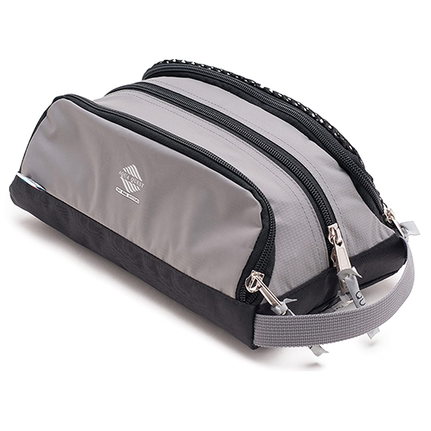 Aqua Quest CHAMELEON Grey Travel Bag Water Resistant Pouch with Three Compartments for Travel, School, Outdoors