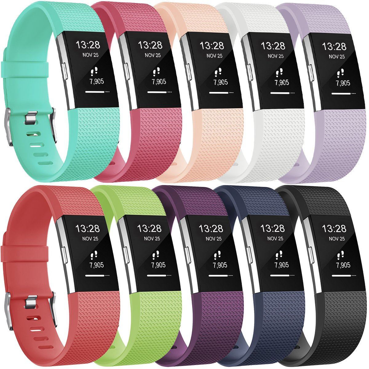 Gogoings Correa para Fitbit Charge 2 Pulsera Ajustable Correa de Reemplazo Deportivo Compatible con Fitbit Charge2 para Mujeres Hombres (Sin Reloj) product image
