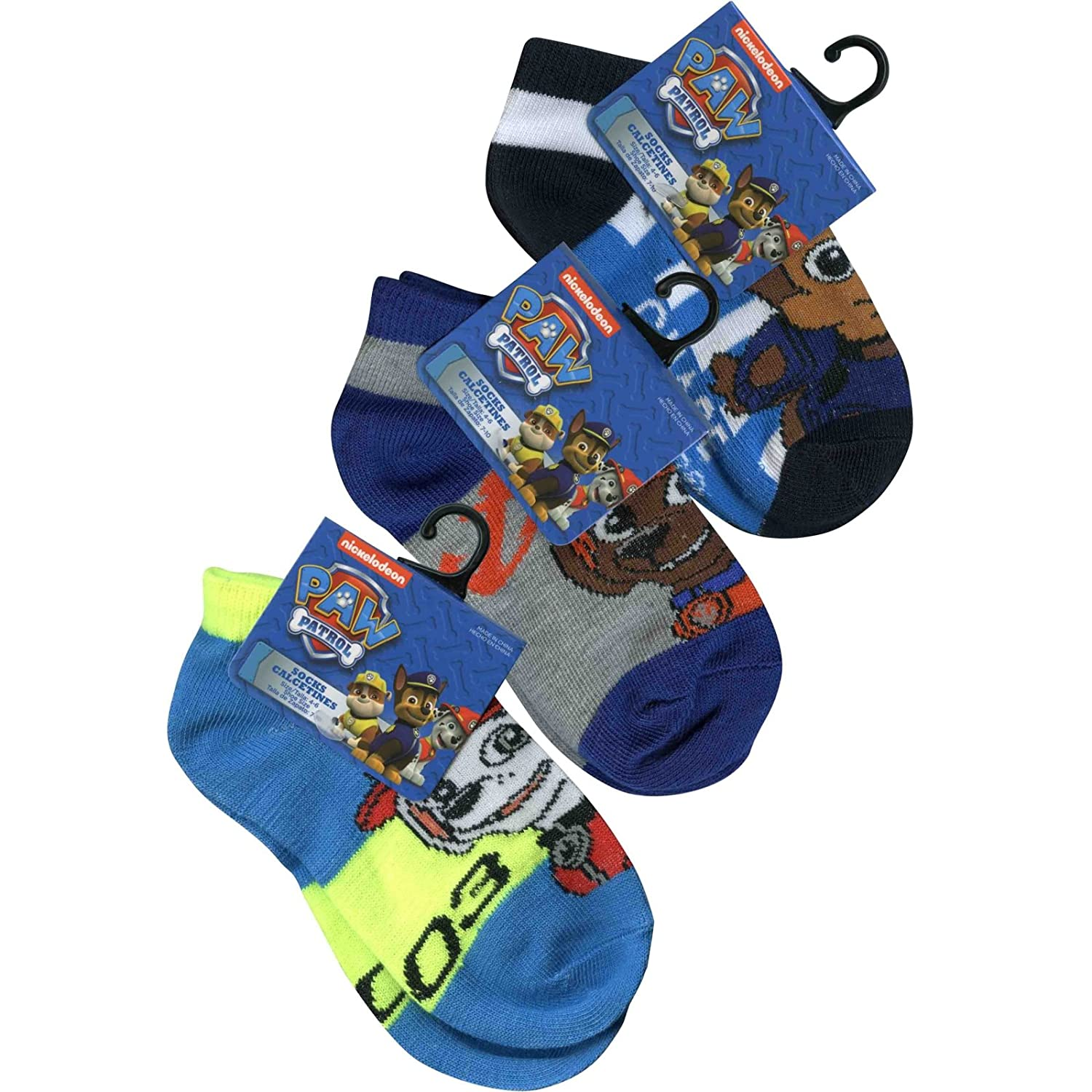 Amazon.com : (3-Pack) Nickelodeon Kids Ankle Socks No Show Style, Size 4-6 : Sports & Outdoors