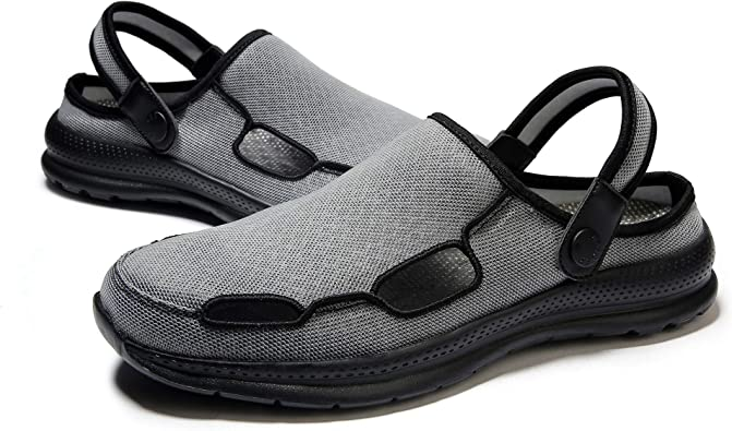 Mens Water Shoes Outdoor Beach Swim Sandals Slipper Hole Casual Sneakers Slip On