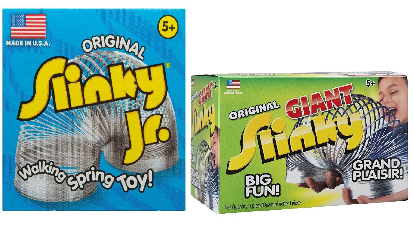 The Original Slinky Junior Vintage Toy for Birthday Gifts or Prizes 2 PACK