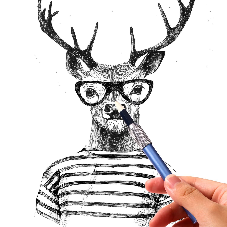 12 St/ücke Metall Stiftextender Bunter Bleistiftverl/ängerer Crayon Erweiterung Schreiben Art Tools f/ür Schulb/ürobedarf