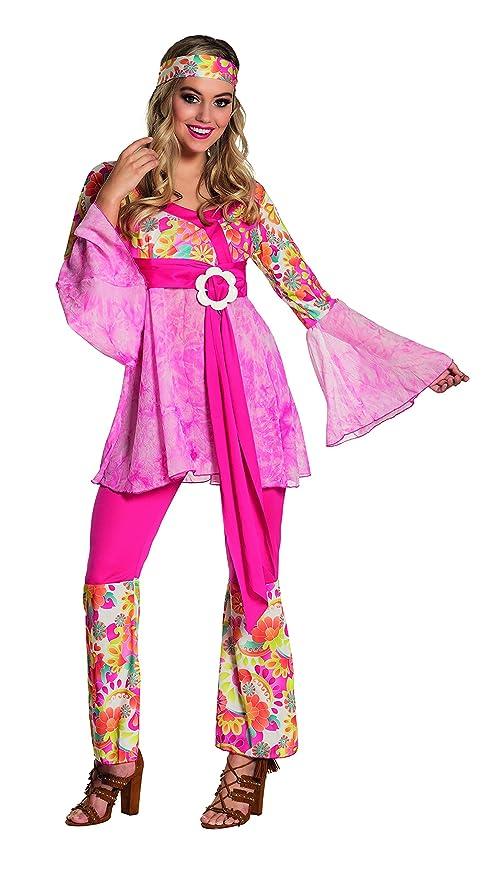 Boland Hippie Figlia dei Fiori Happy Diva Costume Donna per Adulti ... 11f508c78dc