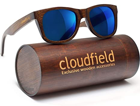 f79cc3423c4a Amazon.com: Wood Sunglasses Polarized for Men and Women - Bamboo ...