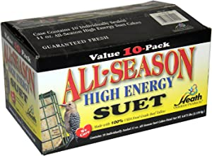 Heath Outdoor Products DD4-10 All Season High Energy Suet Cake, Case Of 10