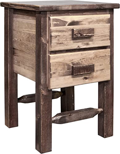 Montana Woodworks Homestead Collection Nightstand, Stain Clear Lacquer Finish