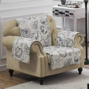 Barefoot Bungalow Cruz Arm Chair Protector, Armchair, Linen