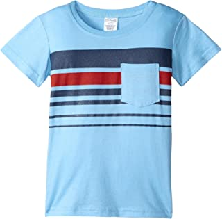 product image for City Threads Boys' Printed Stripe Soft Jersey Pocket Tee, 2t-4t