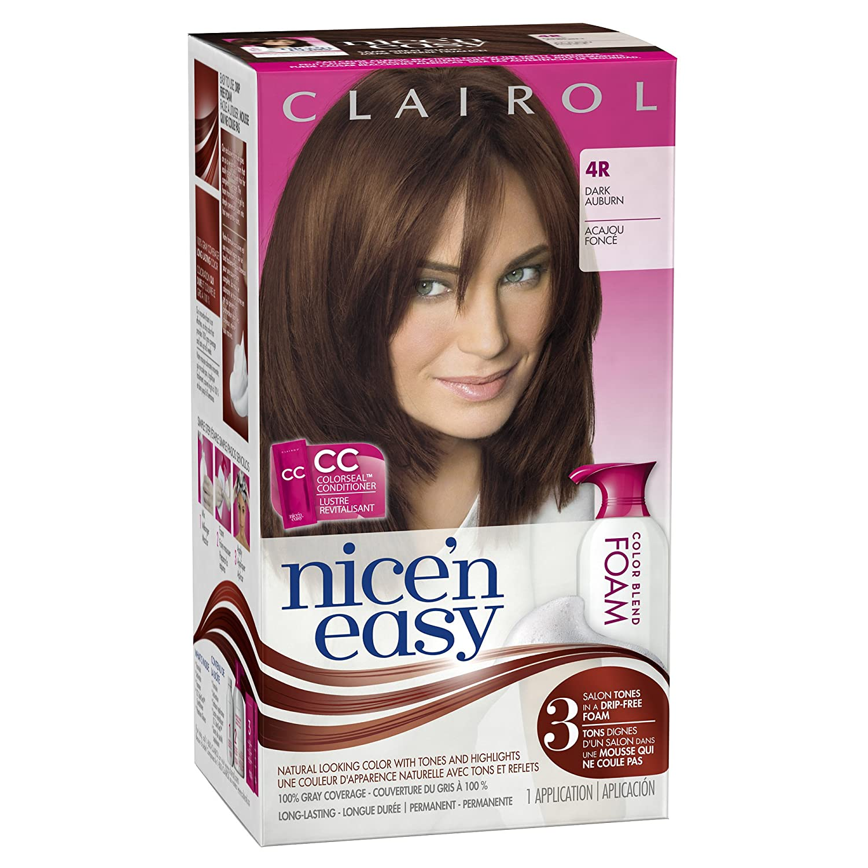 Amazon Clairol Nice N Easy Foam Hair Color 4r Dark Auburn 1