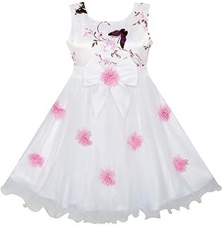 7cdd7b02aa9d1 Sunny Fashion Robe Fille Fleur Papillon Mariage Reconstitution Historique  Demoiselle d honneur 4-10
