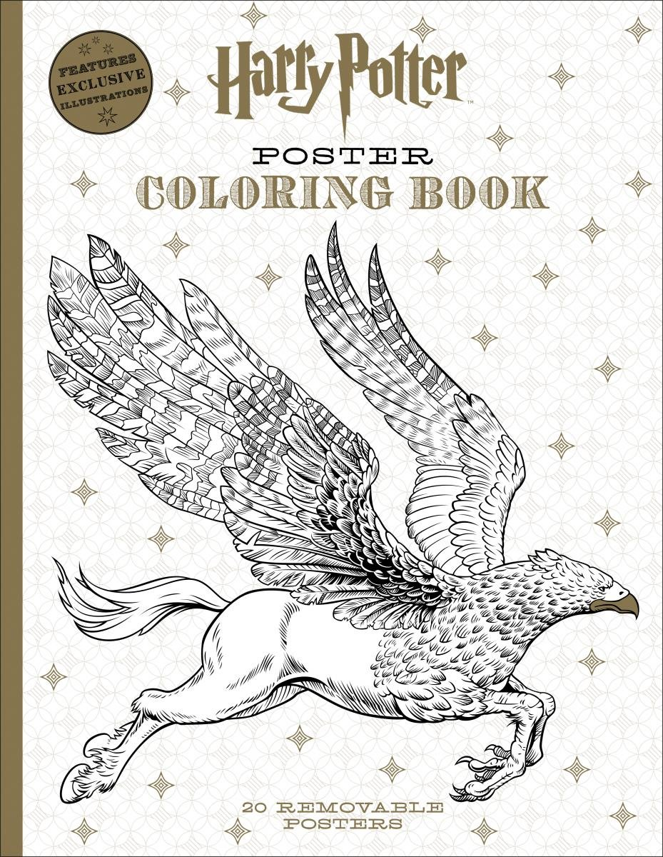 harry potter poster coloring book scholastic 9781338054606 amazoncom books