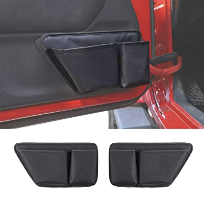 RT-TCZ for Jeep Wrangler JK Door Storage Pockets Interior Organizer Accessories for 2011-2020 Jeep Wrangler JK JKU 2/4-Door: Automotive