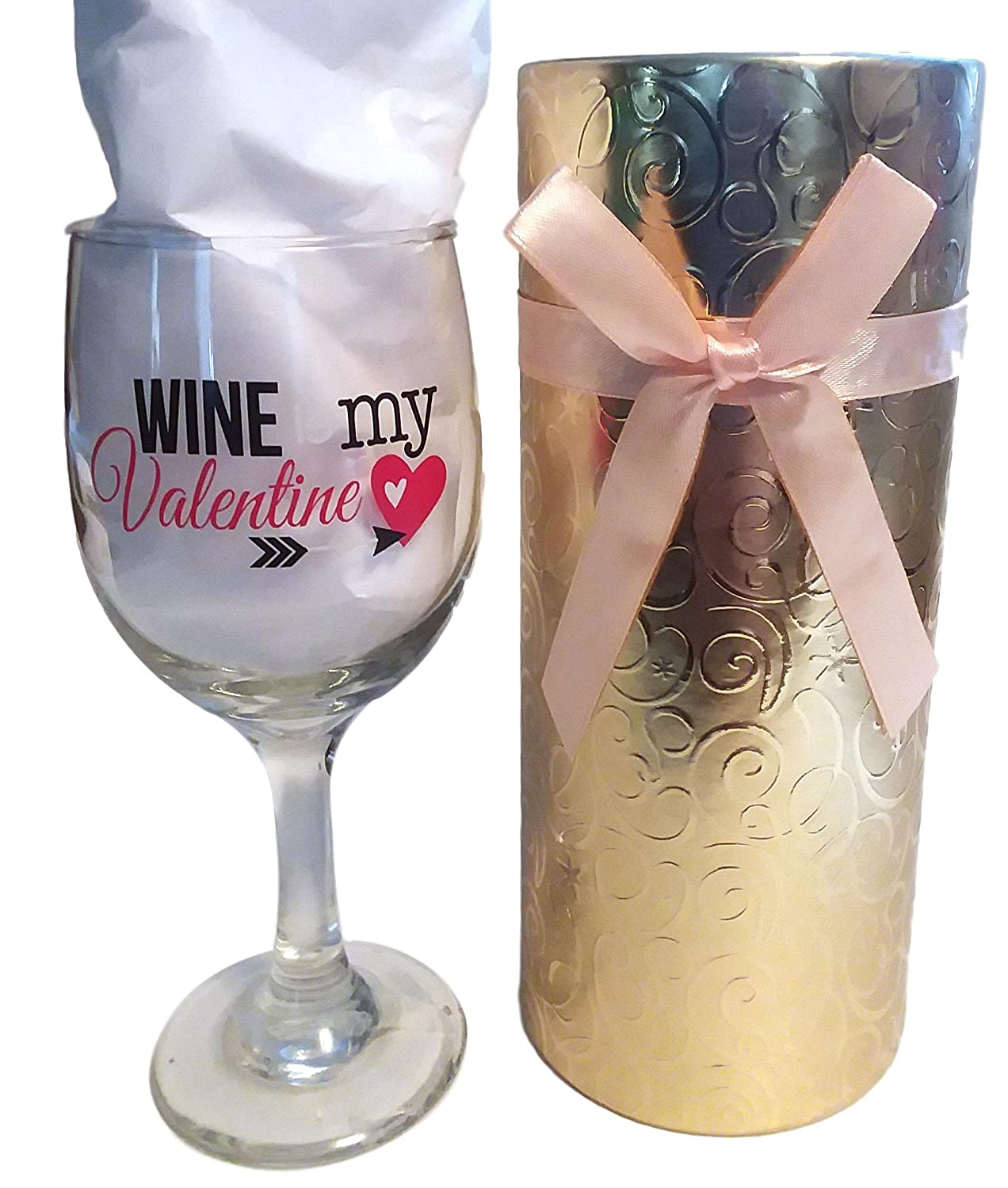 Amazon Com Valentine Wine Glass With Gift Box Ready To Give Gift