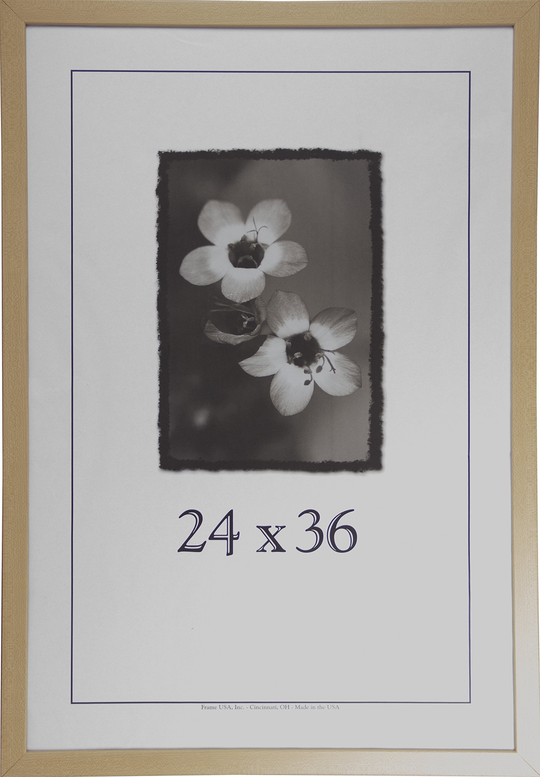 24x36 Wood Picture Frame (American Maple) - Made in the USA