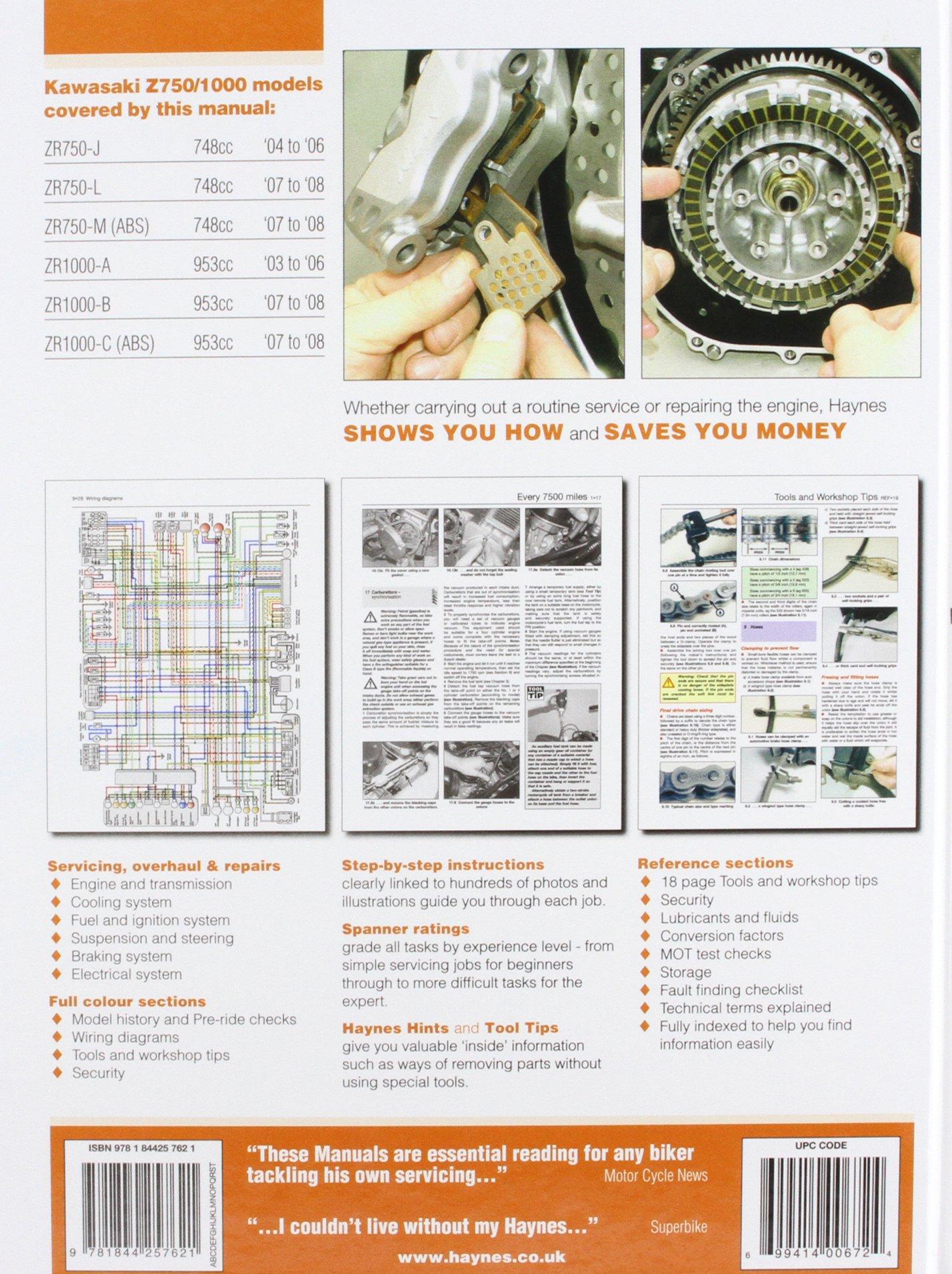 Kawasaki Z750 and Z1000 Service and Repair Manual: 2003 to 2008 (Haynes  Service and Repair Manuals): Matthew Coombs: 9781844257621: Amazon.com:  Books