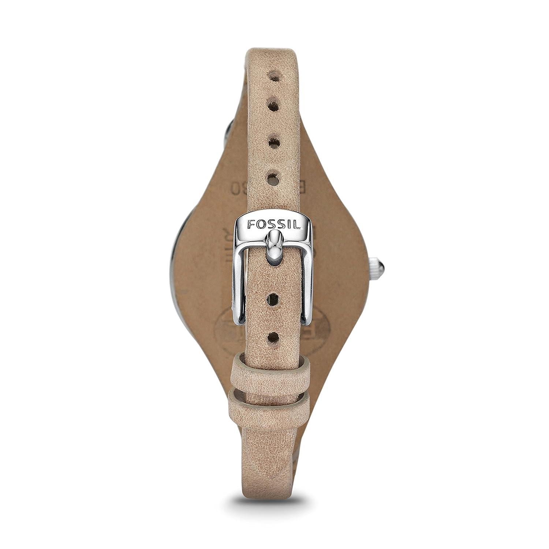 bff6e422a200 Fossil Reloj Analógico para Mujer de Cuarzo con Correa en Cuero ES2830   Fossil  Amazon.es  Relojes