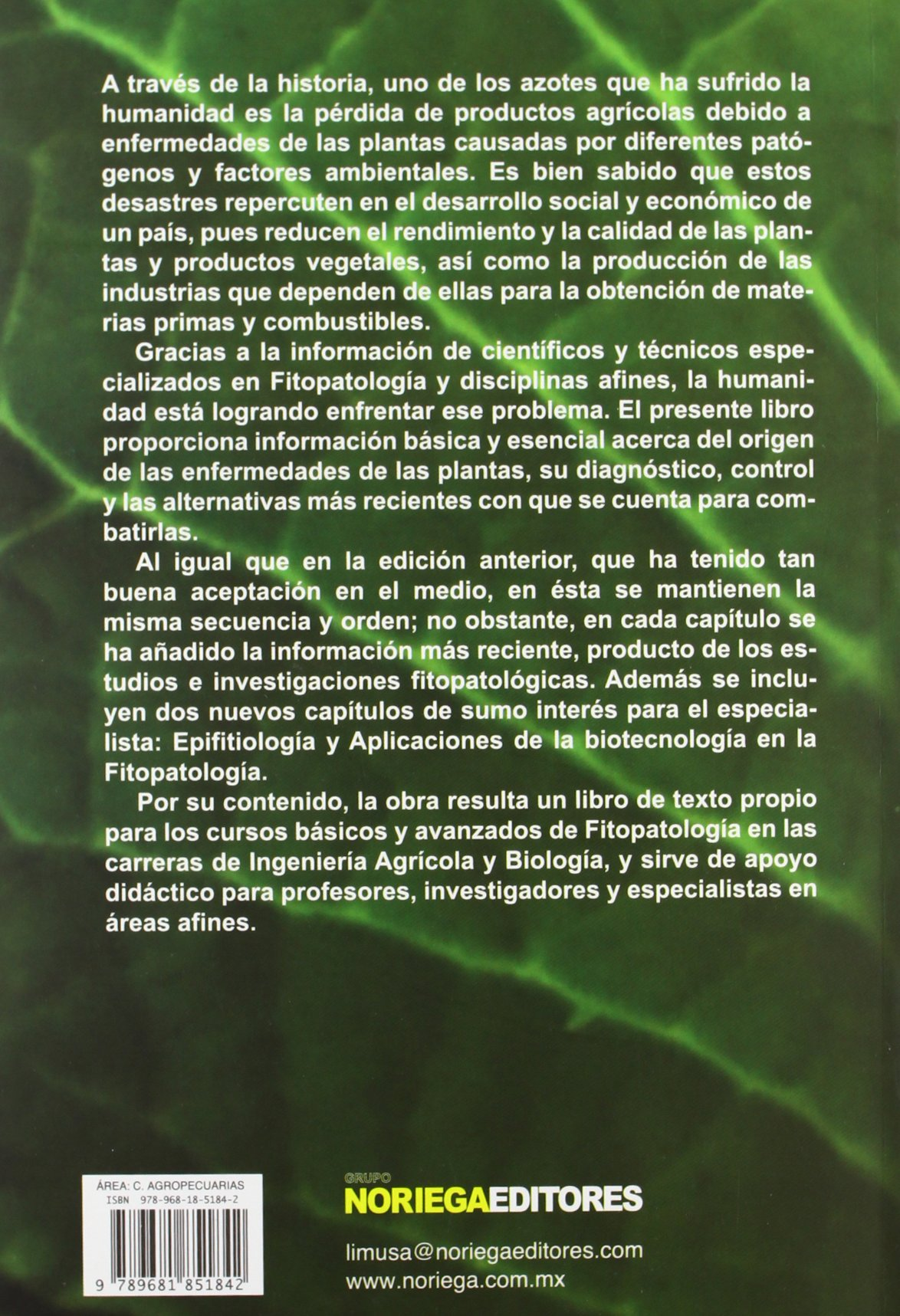 libro fitopatologia gn agrios