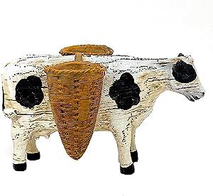 Melrose Standing Animal Planter Figurines Farmhouse Decor Rustic Sculpture (Cow)