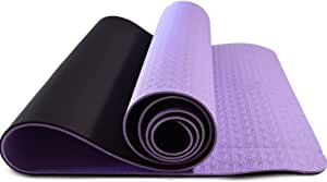 MRS Fitness Yoga Mat - Eco Friendly, Nonslip for Hot Yoga; Travels Easily in Your Yoga Bag; Comes with Yoga Mat Strap Carrier; Best, Thick, Organic Mat for Exercise, Pilates and Yoga;