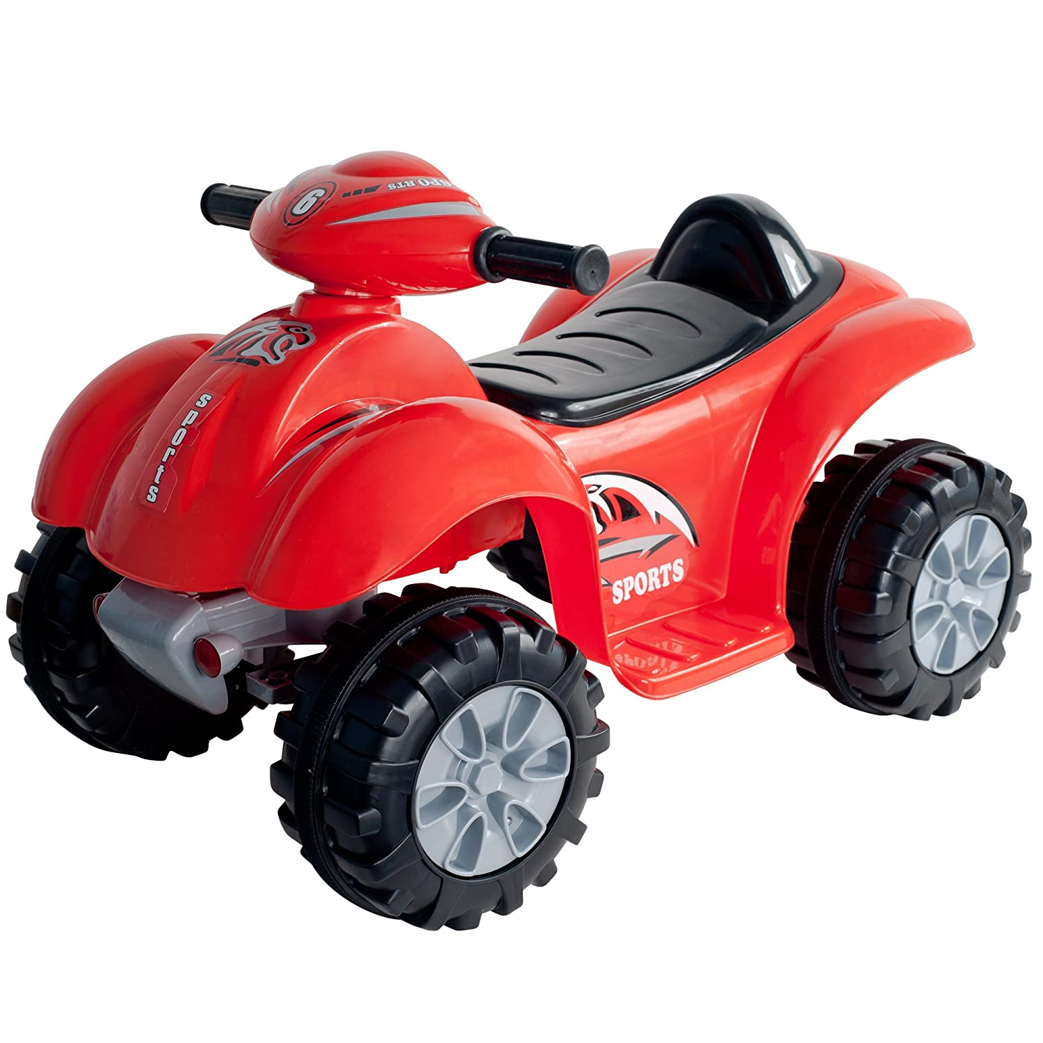 Battery Operated Ride On Toys >> Ride On Toy Quad Battery Powered Ride On Atv Dinosaur Four Wheeler With Sound Effects By Lil Rider Toys For Boys And Girls 2 4 Year Olds Red