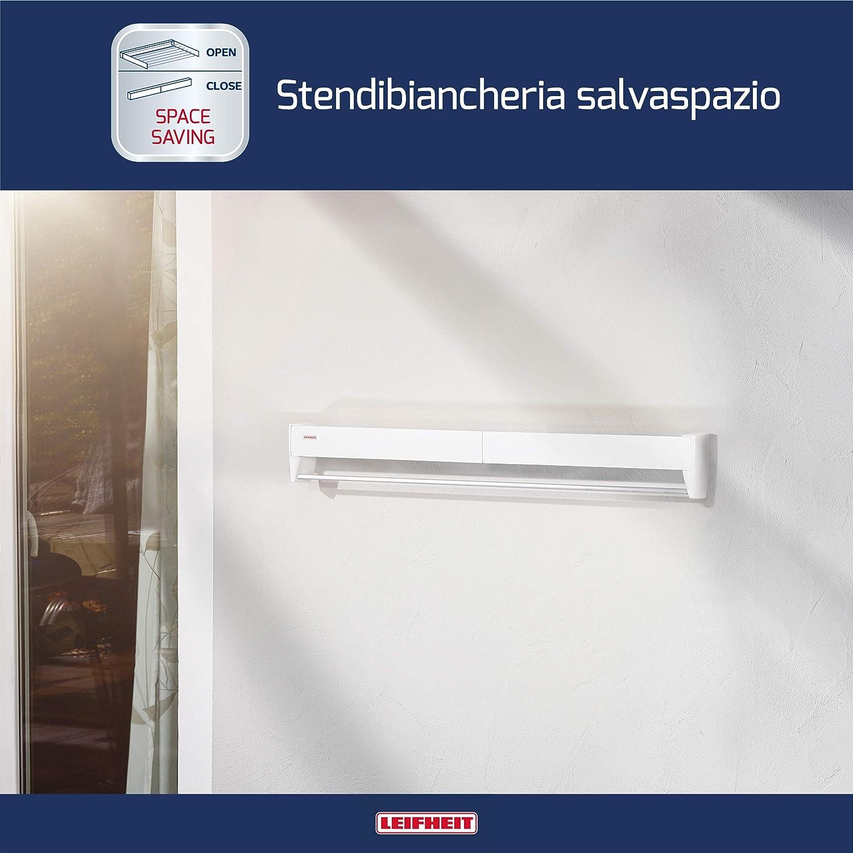 Leifheit Telefix 83100 STENDINO A PARETE Stendibiancheria cm 90 estraibile