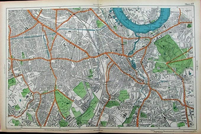 Amazon Com London Thames River Greenwich Observatory Park Brockley C 1911 Old City Plan Map Entertainment Collectibles