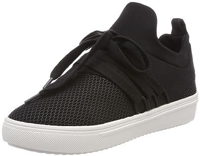 ae02bb3e6624c Steve Madden Women's Lancer Sneaker Trainers, (Black 01001), 6 UK ...
